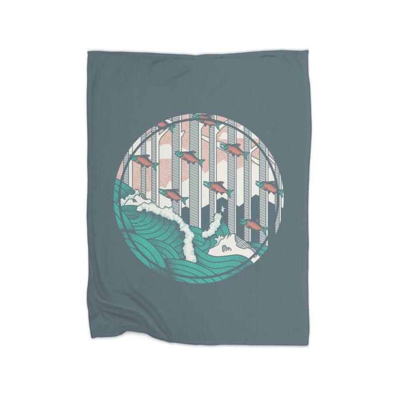 Upstream Home Fleece Blanket Blanket by Steger