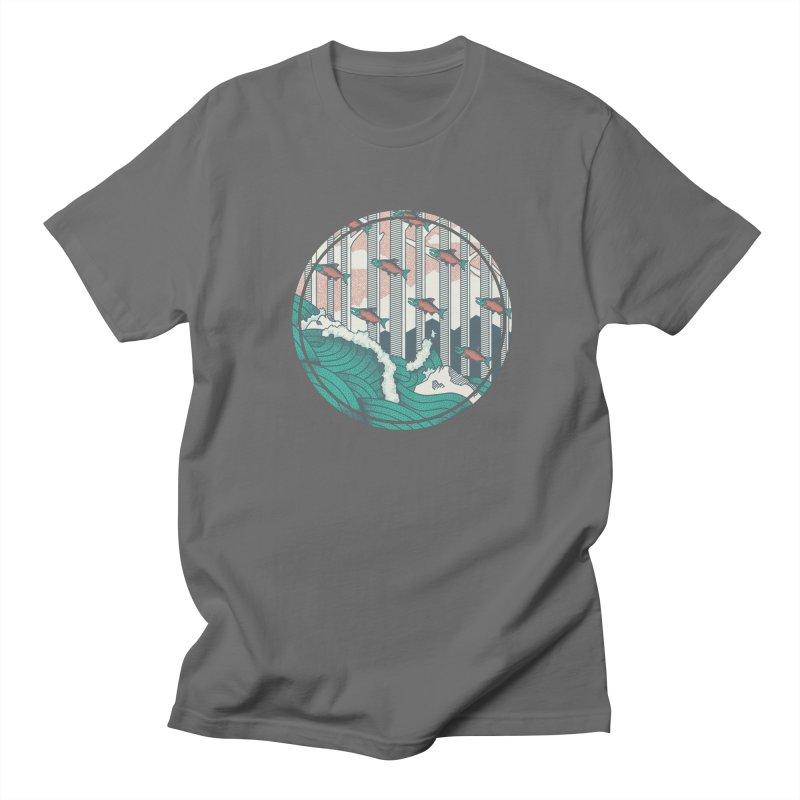 Upstream in Men's Regular T-Shirt Asphalt by Steger