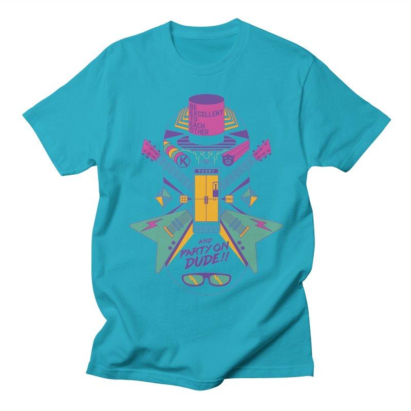 Be Excellent Men's Regular T-Shirt by Steger
