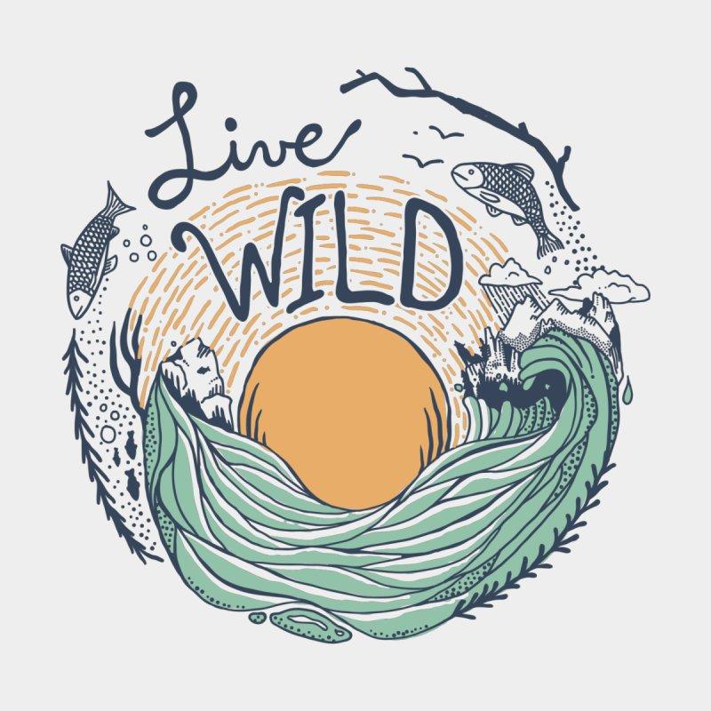 Live Wild Women's Scoop Neck by Steger