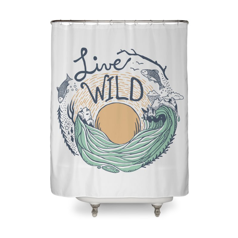Live Wild Home Shower Curtain by Steger