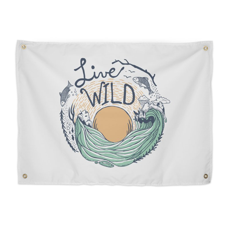Live Wild Home Tapestry by Steger