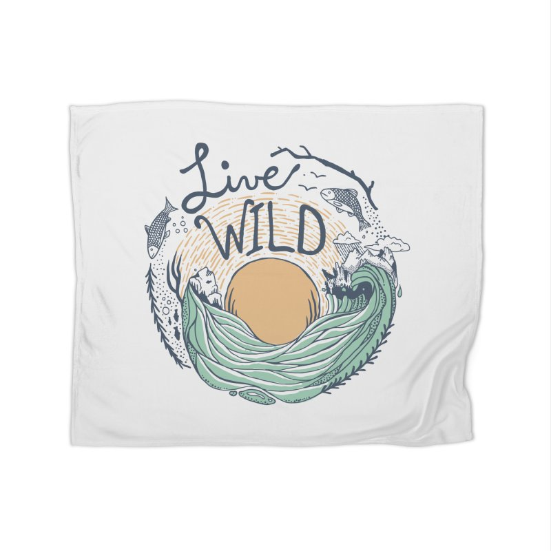 Live Wild Home Fleece Blanket Blanket by Steger