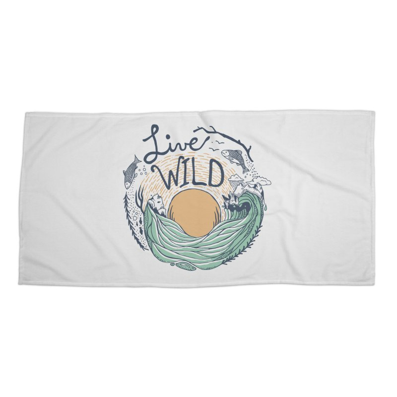 Live Wild Accessories Beach Towel by Steger