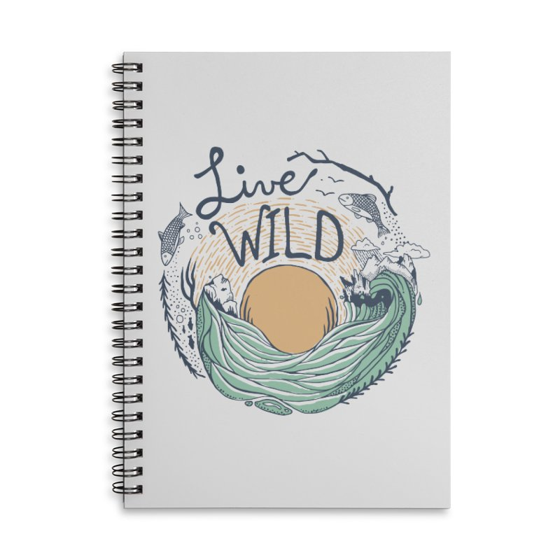Live Wild Accessories Lined Spiral Notebook by Steger