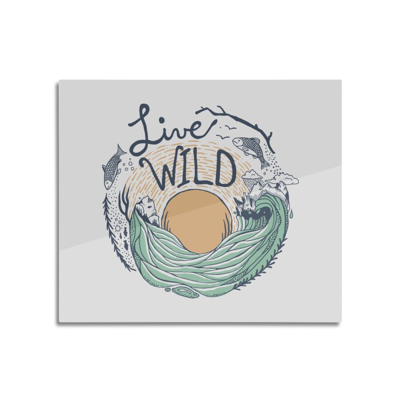 Live Wild Home Mounted Aluminum Print by Steger