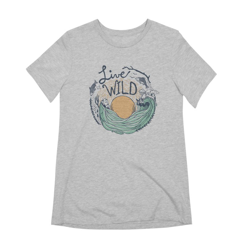 Live Wild Women's Extra Soft T-Shirt by Steger