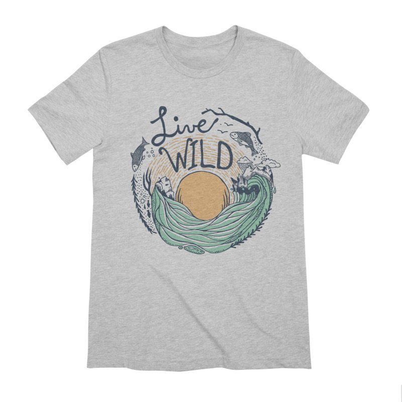 Live Wild Men's Extra Soft T-Shirt by Steger