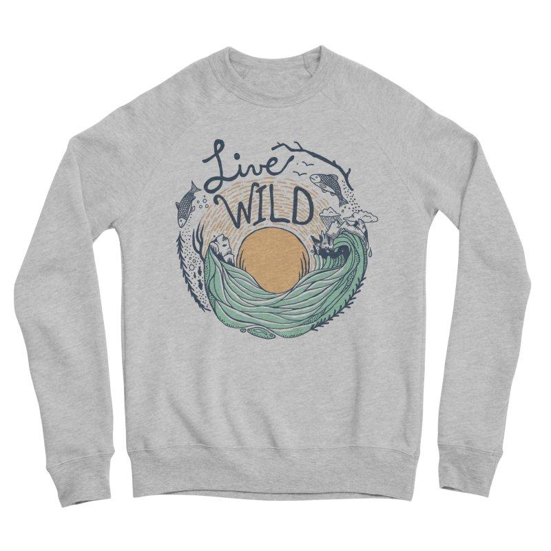 Live Wild Women's Sponge Fleece Sweatshirt by Steger