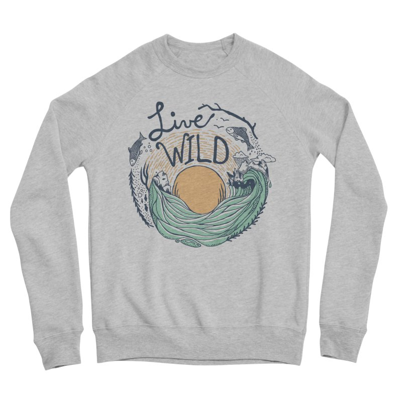 Live Wild Men's Sponge Fleece Sweatshirt by Steger
