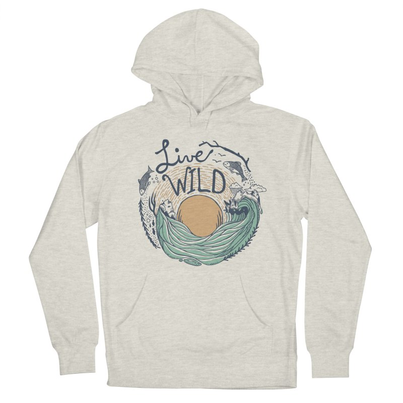 Live Wild Men's French Terry Pullover Hoody by Steger