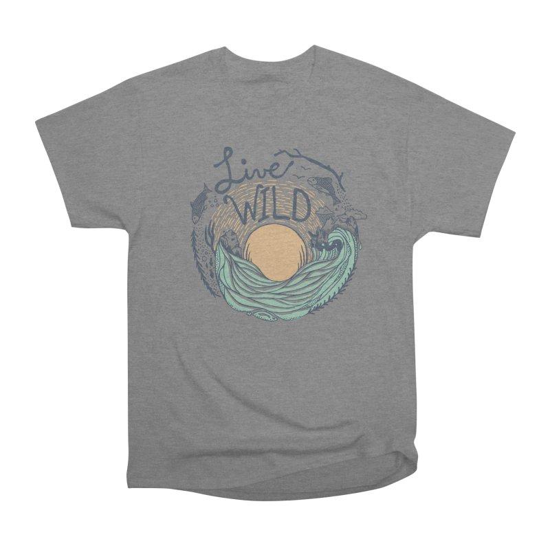 Live Wild Women's Heavyweight Unisex T-Shirt by Steger