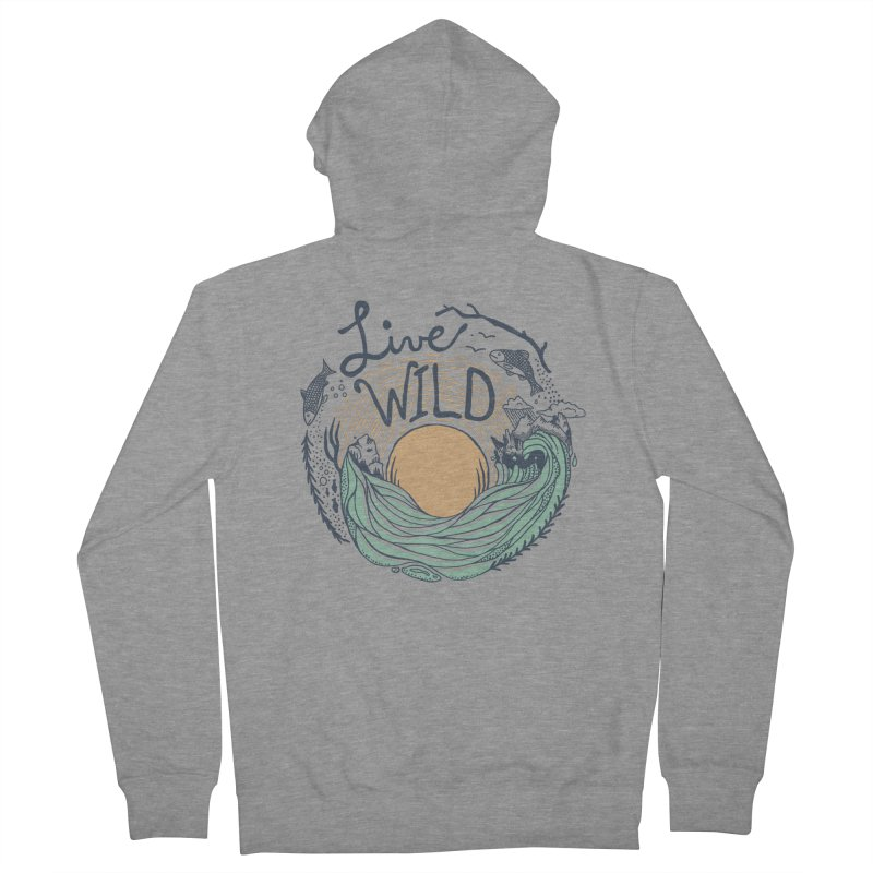 Live Wild Men's French Terry Zip-Up Hoody by Steger
