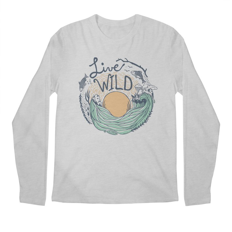 Live Wild Men's Regular Longsleeve T-Shirt by Steger