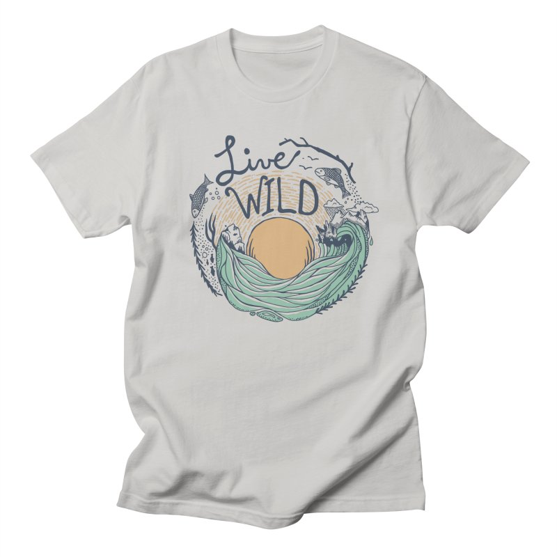 Live Wild Men's Regular T-Shirt by Steger