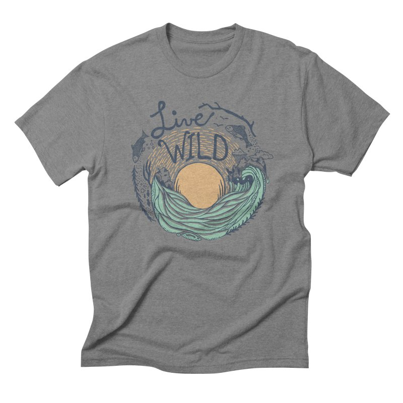 Live Wild Men's Triblend T-Shirt by Steger
