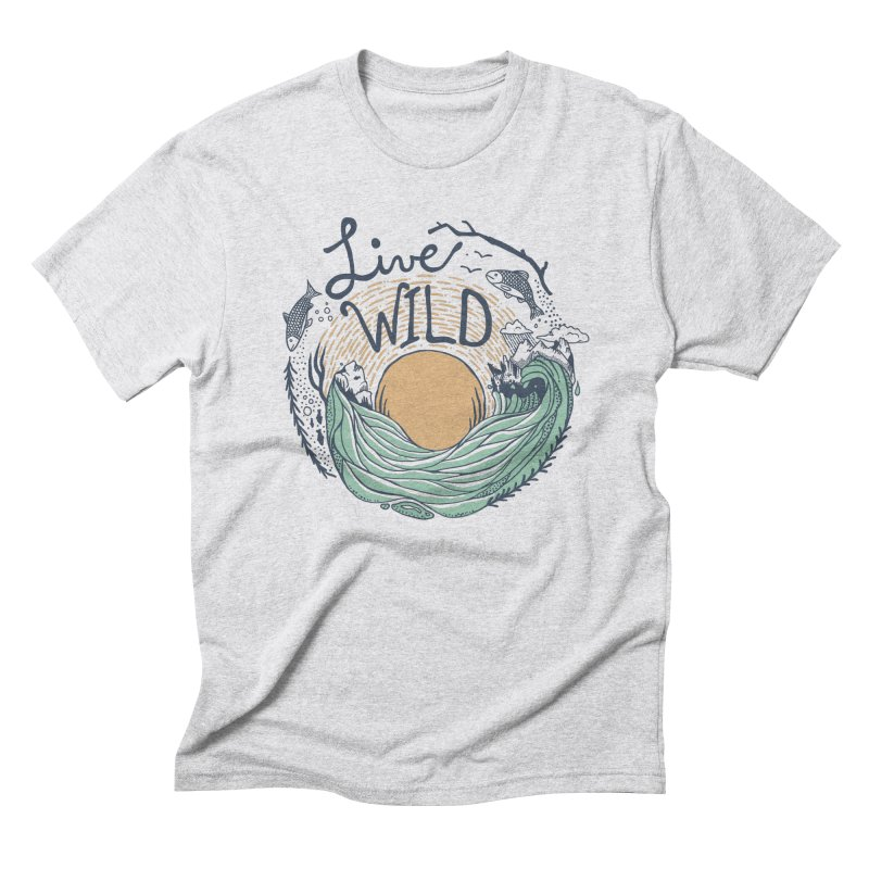 Live Wild Men's Triblend T-Shirt by Steger