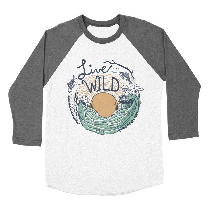 Live Wild Women's Baseball Triblend Longsleeve T-Shirt by Steger