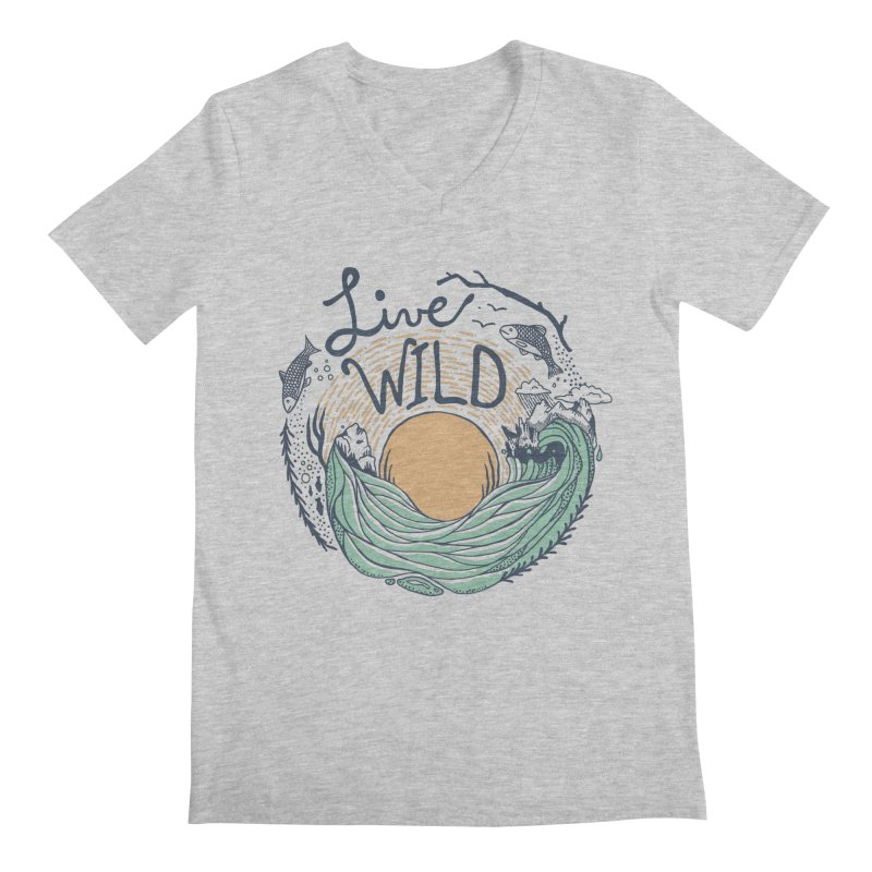 Live Wild Men's Regular V-Neck by Steger
