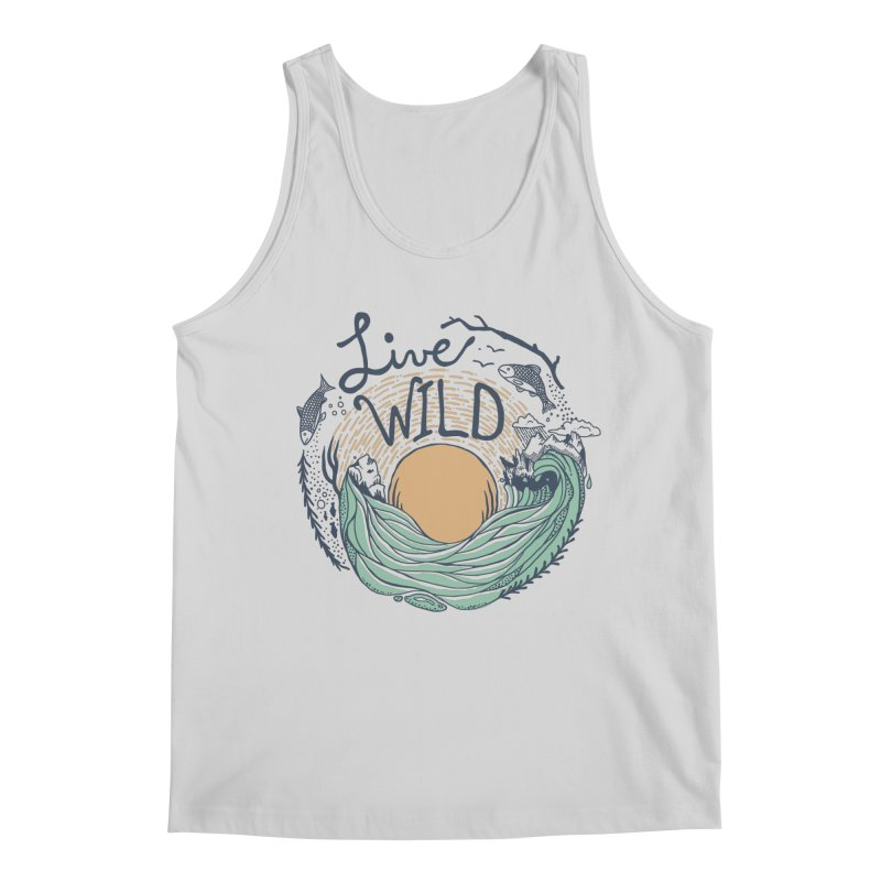 Live Wild Men's Regular Tank by Steger