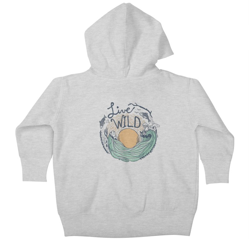Live Wild Kids Baby Zip-Up Hoody by Steger