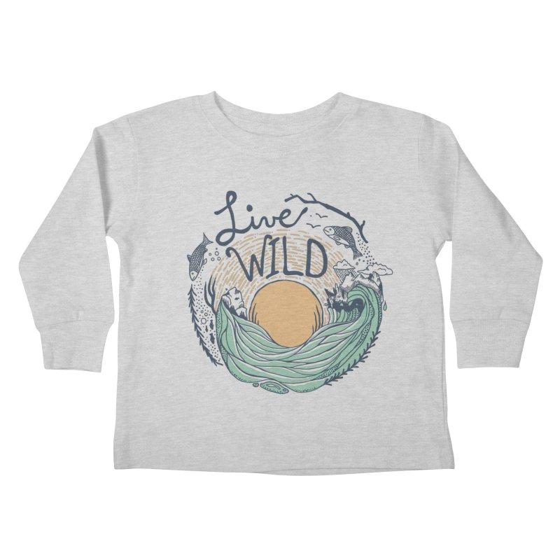 Live Wild Kids Toddler Longsleeve T-Shirt by Steger