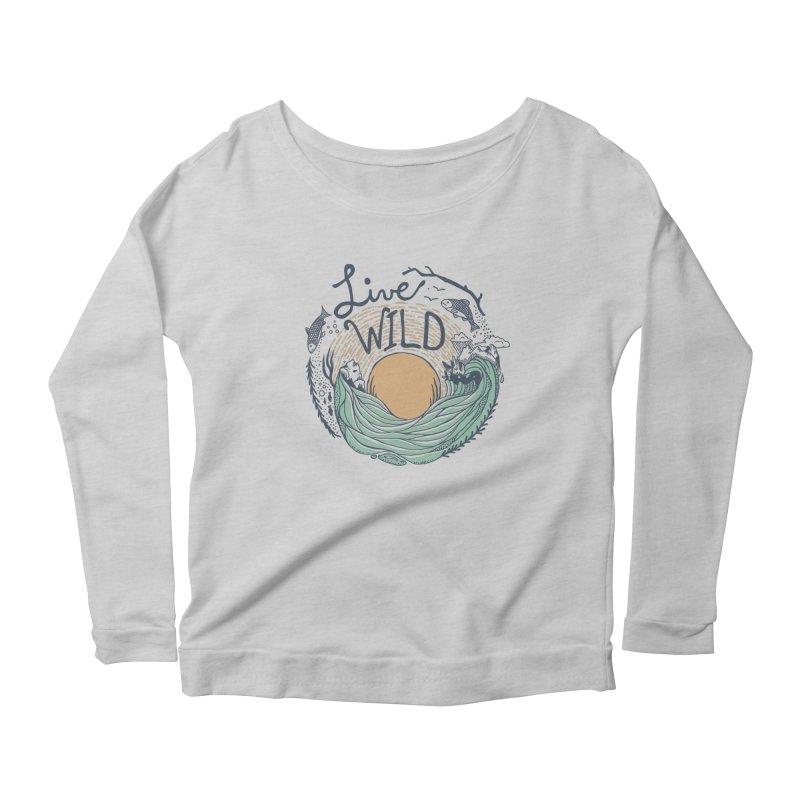 Live Wild Women's Scoop Neck Longsleeve T-Shirt by Steger