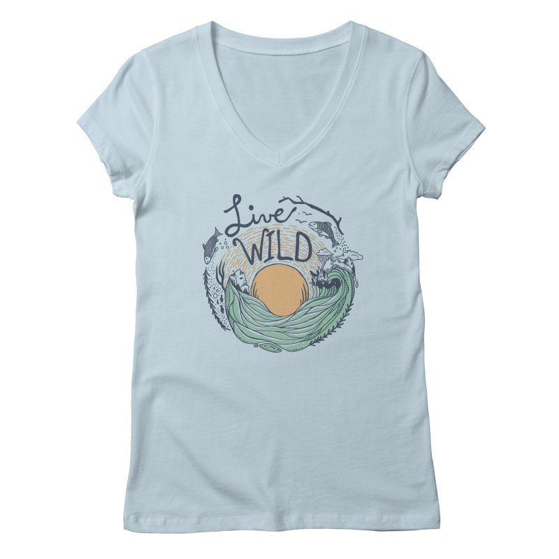 Live Wild Women's Regular V-Neck by Steger