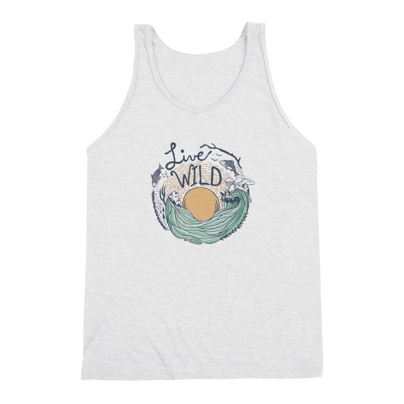 Live Wild Men's Triblend Tank by Steger