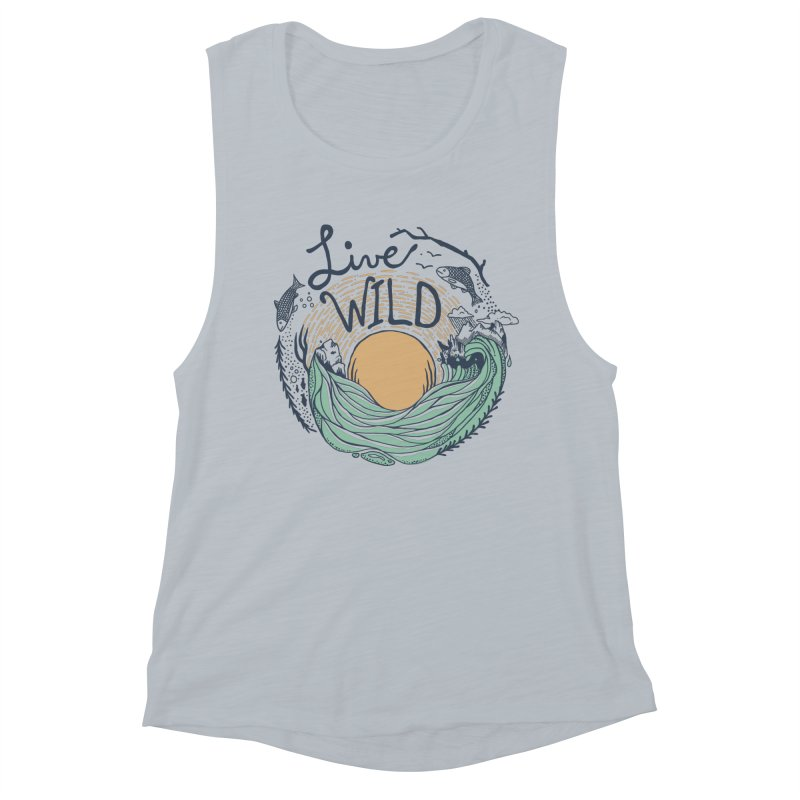 Live Wild Women's Muscle Tank by Steger