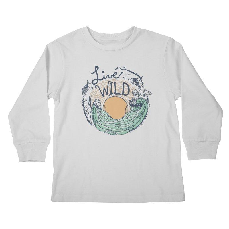 Live Wild Kids Longsleeve T-Shirt by Steger