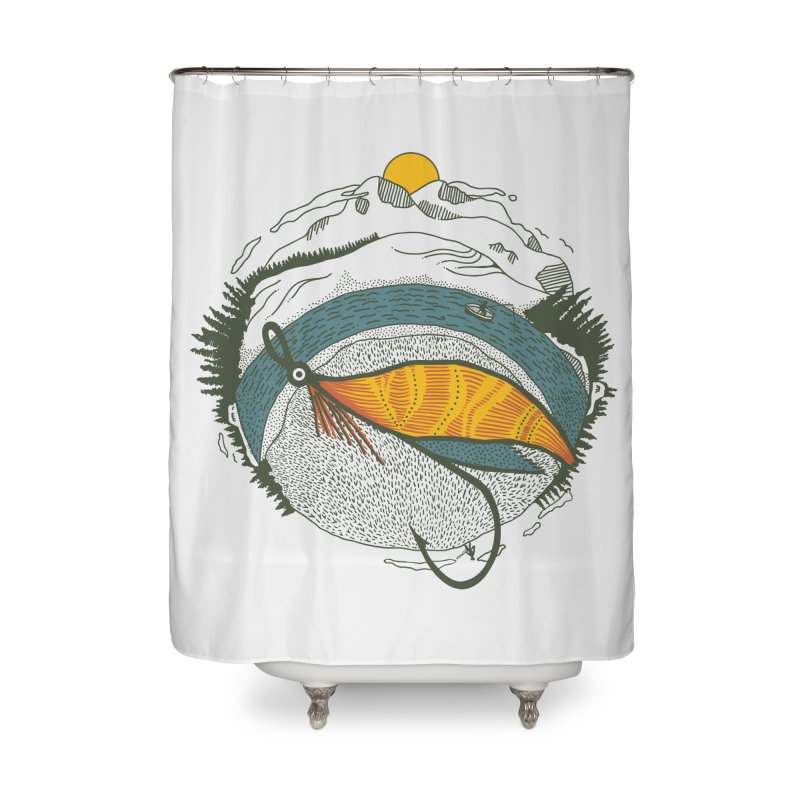 Fly Orb Home Shower Curtain by Steger