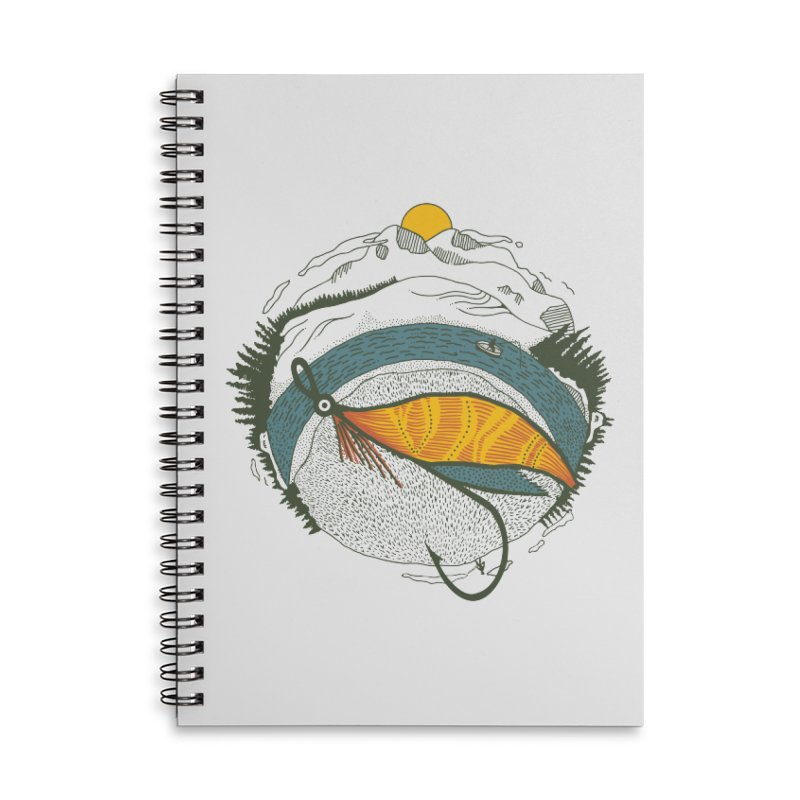 Fly Orb Accessories Lined Spiral Notebook by Steger