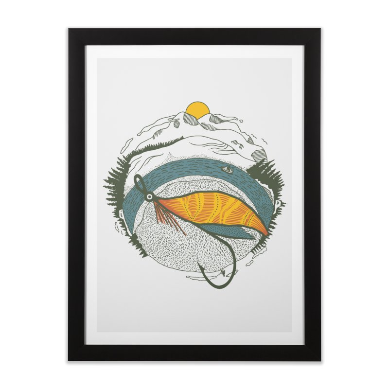Fly Orb Home Framed Fine Art Print by Steger