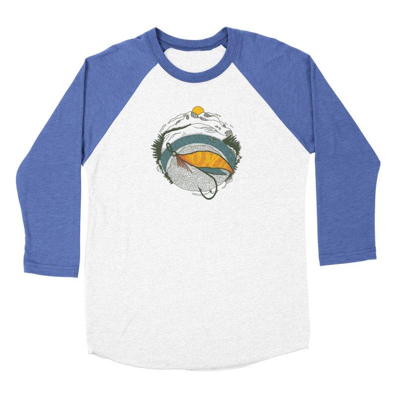 Fly Orb Men's Baseball Triblend Longsleeve T-Shirt by Steger