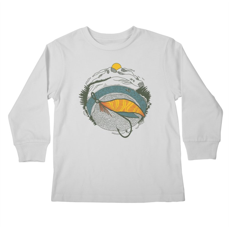 Fly Orb Kids Longsleeve T-Shirt by Steger
