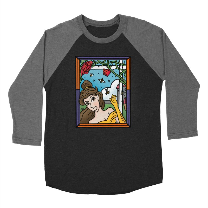 and the Bees Men's Baseball Triblend Longsleeve T-Shirt by Steger