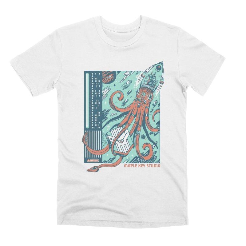 Squid Ship-Maple Key Studio Men's T-Shirt by Steger