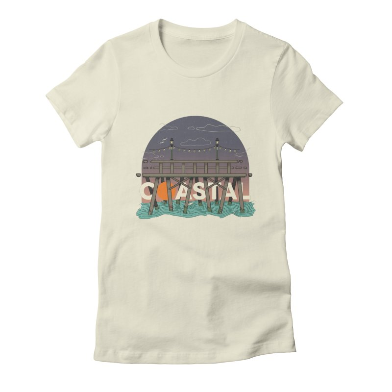 Coastal Women's Fitted T-Shirt by Steger