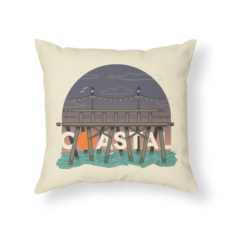 Coastal Home Throw Pillow by Steger