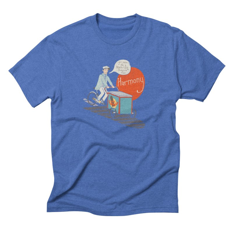 Captain Scrummy Men's Triblend T-shirt by Steger
