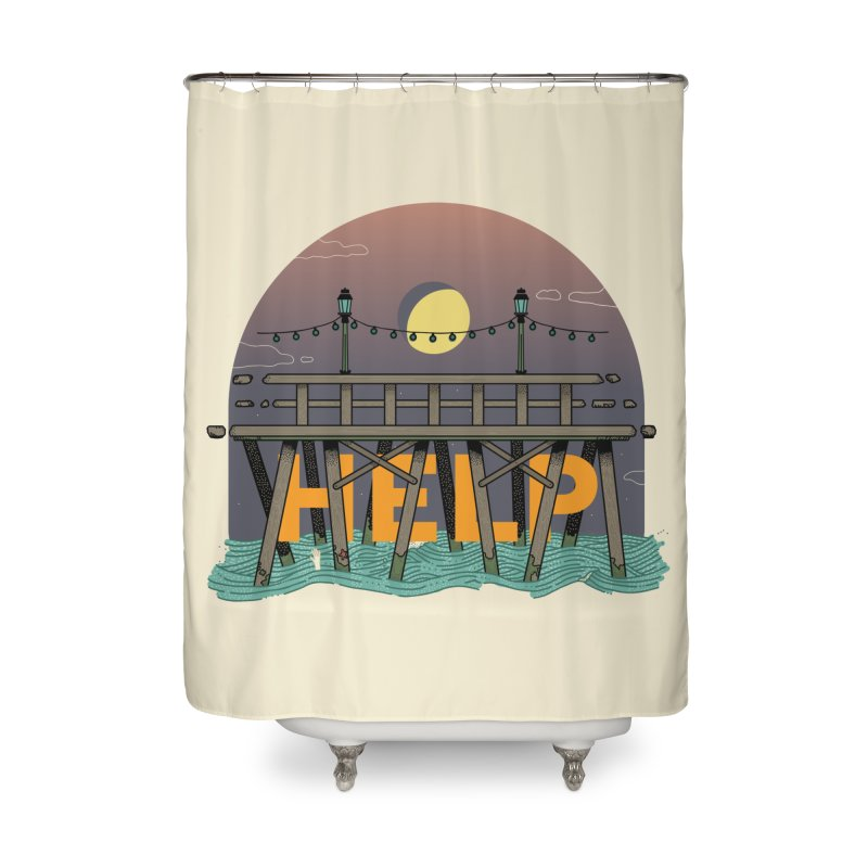 Help Home Shower Curtain by Steger