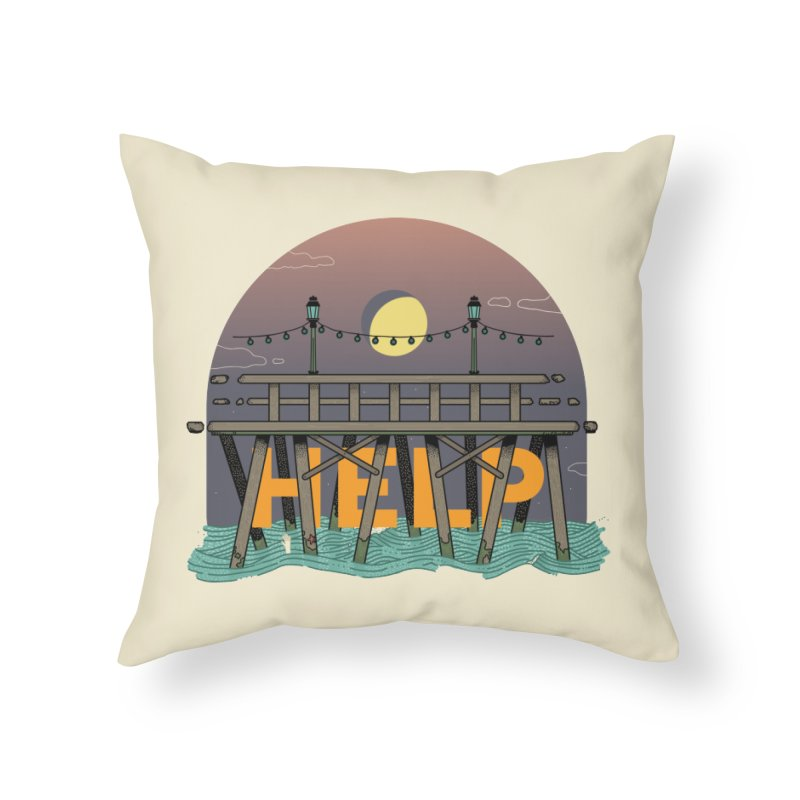 Help Home Throw Pillow by Steger