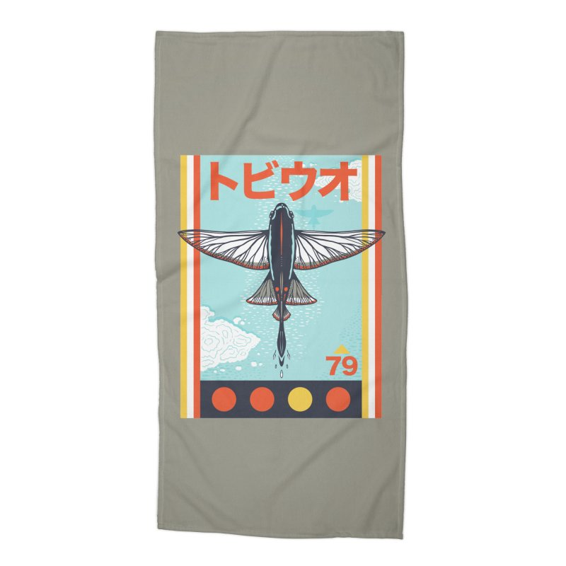 Flying Fish Accessories Beach Towel by Steger