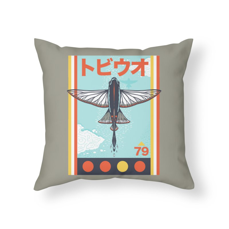 Flying Fish Home Throw Pillow by Steger