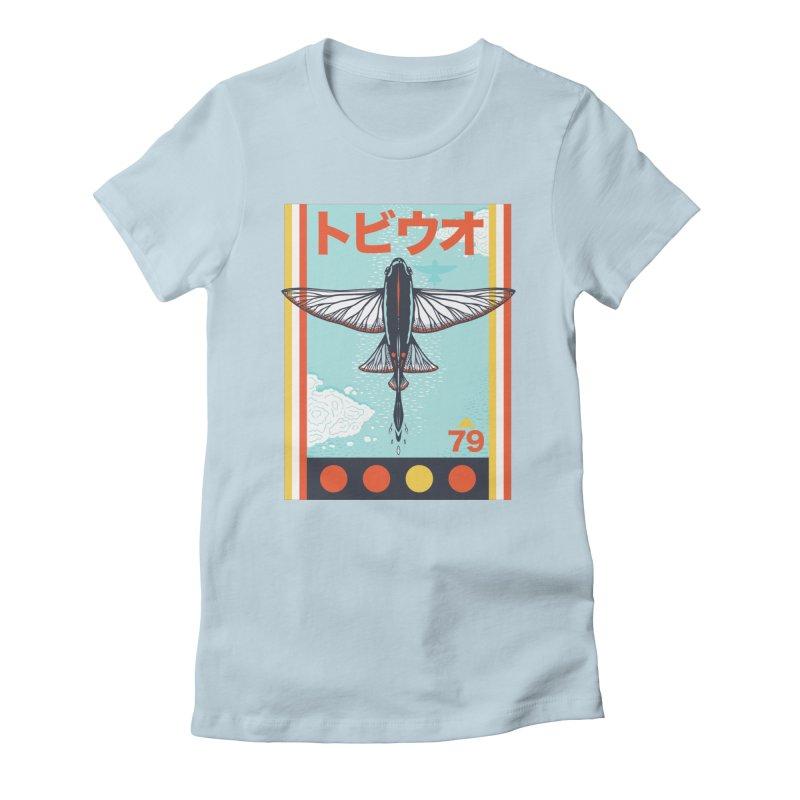 Flying Fish Women's T-Shirt by Steger
