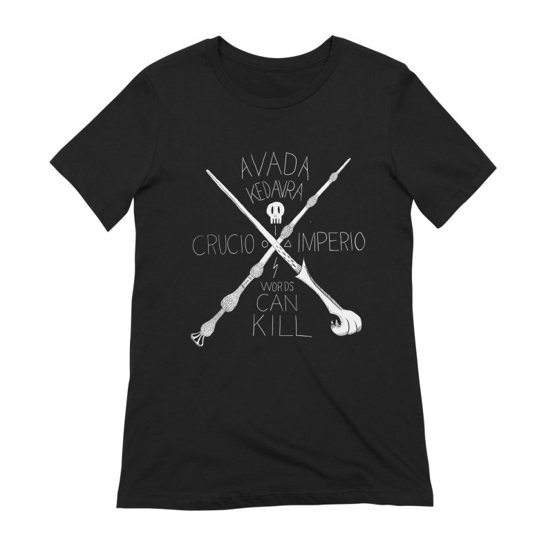 Words Can Kill Women's Extra Soft T-Shirt by Steger