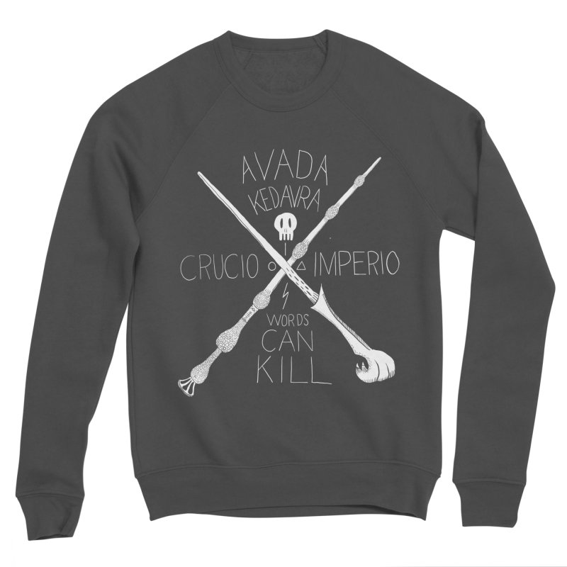 Words Can Kill Men's Sponge Fleece Sweatshirt by Steger