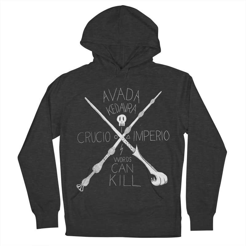 Words Can Kill Men's French Terry Pullover Hoody by Steger