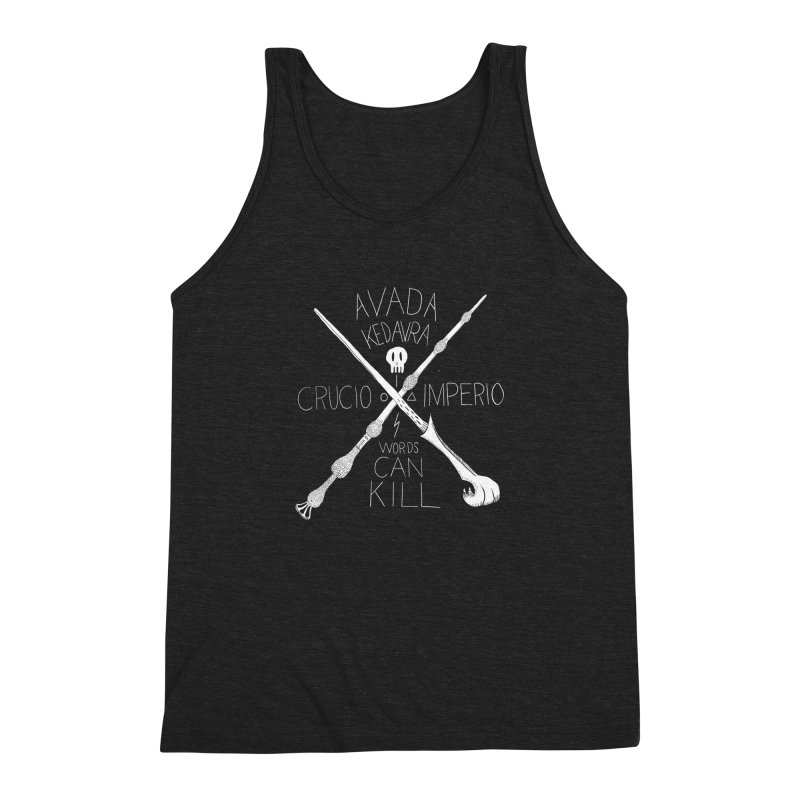 Words Can Kill Men's Triblend Tank by Steger